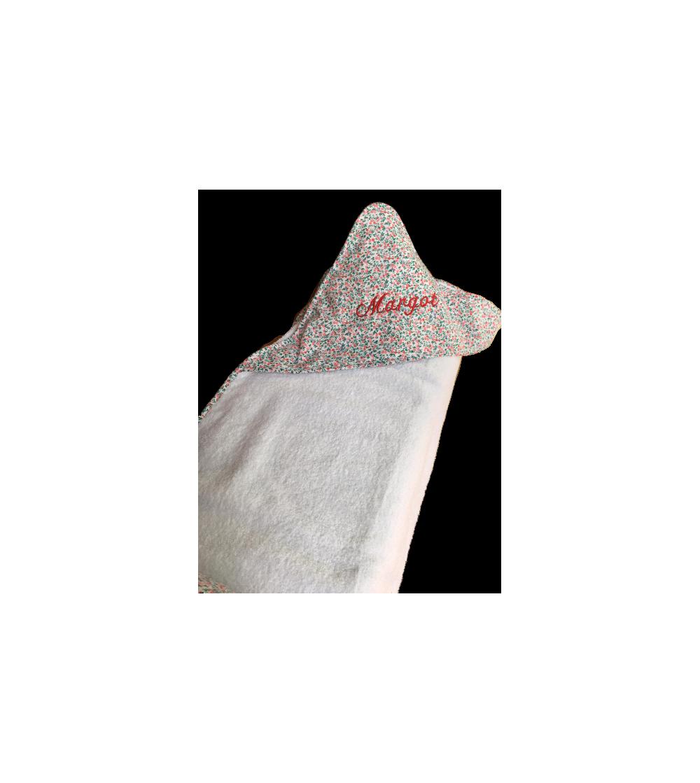 Toalla para bebé con capucha,con el nombre bordado