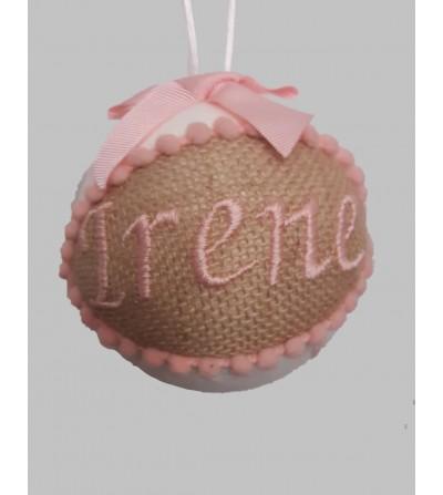 Bola de Navidad personalizada con nombre bordado