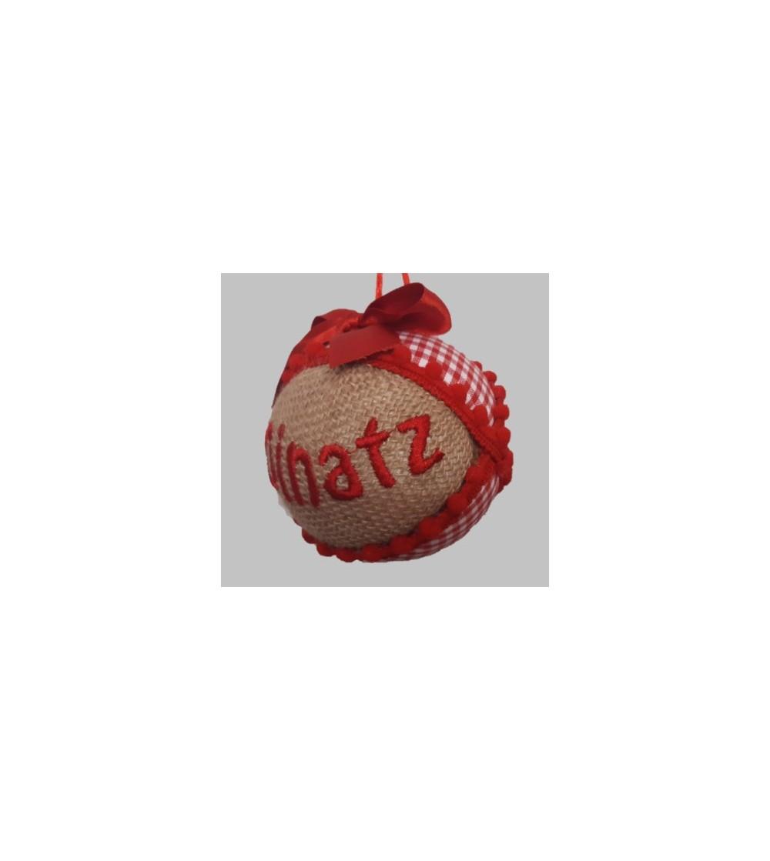 Bola de Navidad roja con nombre personalizado