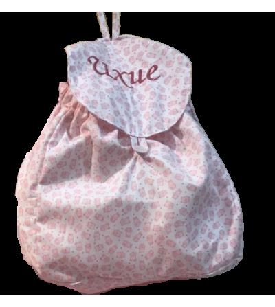 Macuto de guardería para bebés con nombre bordado